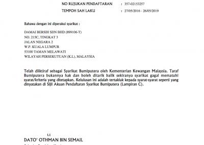 Bumiputera Certificate